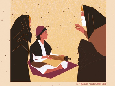 Christ - The wise 12 year old wisdom teaching jews textures god jesus christ bible texture magazine vector design illustration