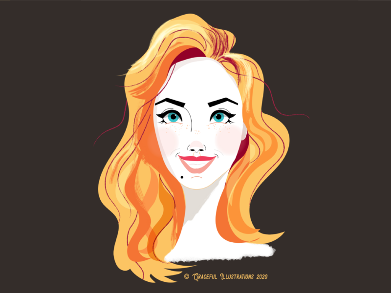 You're welcome woman portrait beauty face welcome woman feature expression vector design illustration