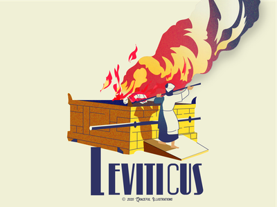 #3 Bible Book - Leviticus cross old testament jew herbew people offering sin holiness sacrifice leviticus colour god jesus christ texture magazine life vector bible design illustration