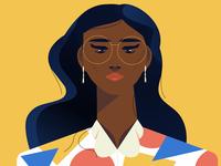 "Front Shot of Nick Slater's Masterpiece ""Exploration"" shirt colours girl editorial slater nick dark black woman illustration exploration life vector illustration"