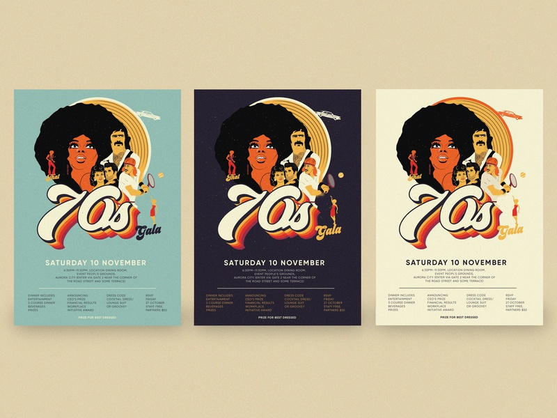 Event Poster groovy dance 70s retro color graphic design poster a day poster art poster drawing typography design illustration