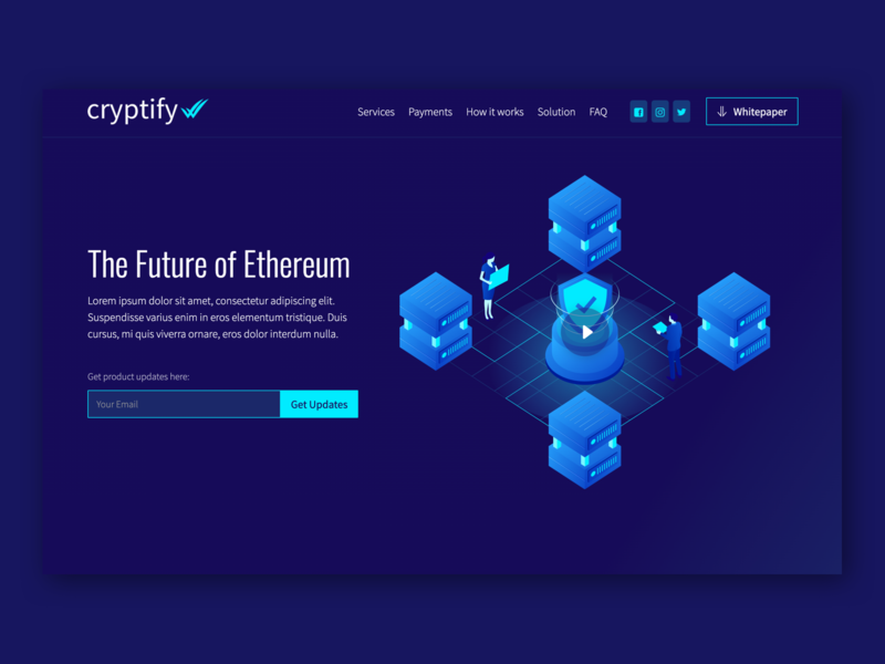 Cryptify Webflow Template crypto exchange ethereum cryptocurrency cryptocoin crypto