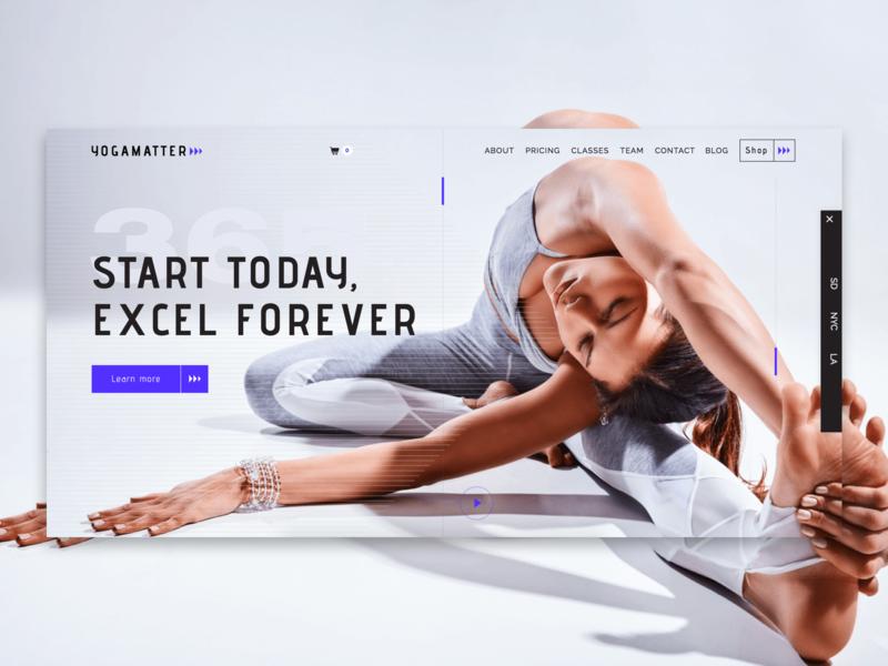 Yogamatter cms development ecommerce responsive design branding templatedesign yoga health fitness gym webdesign uidesign ui webflow