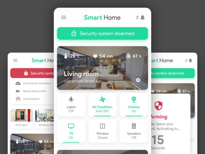 Smart Home & Security App - Concept