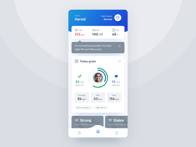 Heart Assistant - Healthcare App Concept mobile after affects ui animation android ios assistant heart healthcare concept app