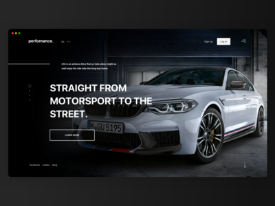 BMW M Perfomance — Website Сoncept