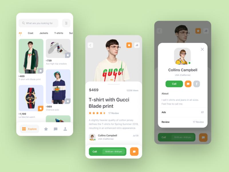 Marketplace app concept p2p interface concept ux ui design mobile app colourful app ecommerce marketplaces