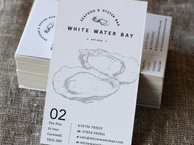 White Water Bay Business Card Designs card business