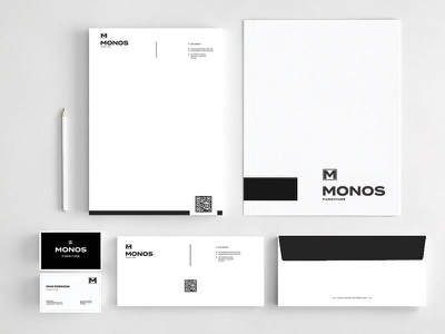 Monos Furniture Stationery branding