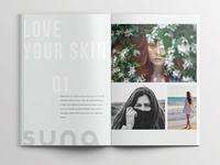 Suna Skin Care Brochure Design
