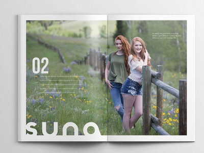 Suna Skin Care Brochure layout and design brochure