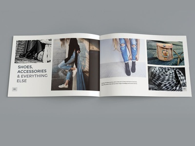 Coast Clothing Co. Brochure layout and design brochure