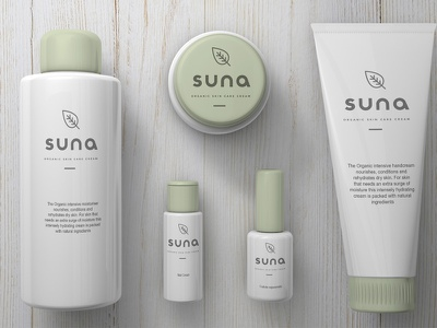 Suna Skin Care Packaging branding