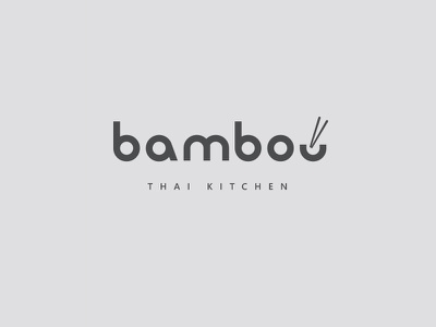 Bamboo Thai Kitchen design logo branding