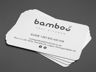 Bamboo Thai Kitchen logo design card business branding