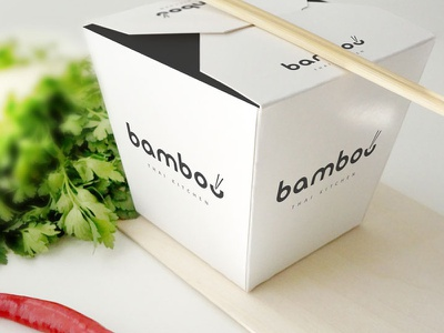 Bamboo Thai Kitchen logo business branding design