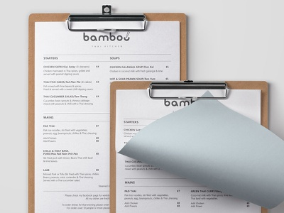 Bamboo Thai Kitchen layout branding logo design