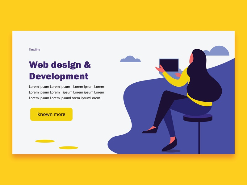 Web Site Templates web icon branding ux ui vector design typography sky girl illustration