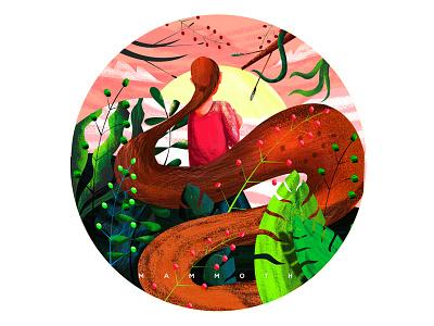 Happy women's day leaf plants motherhood mother nature leaves design girl illustration