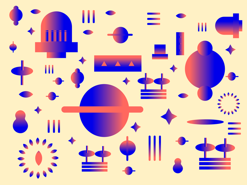 scattered icon sky stars drummer drum earth moon galaxy ux ui logo gradient design plants illustrator gradients lines vector icons illustration
