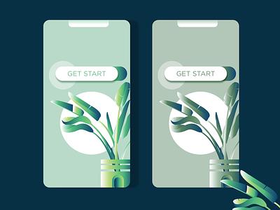Leaves minimal leaves plants design mobile interface mobile ui mobile app design modern mobile app illustration