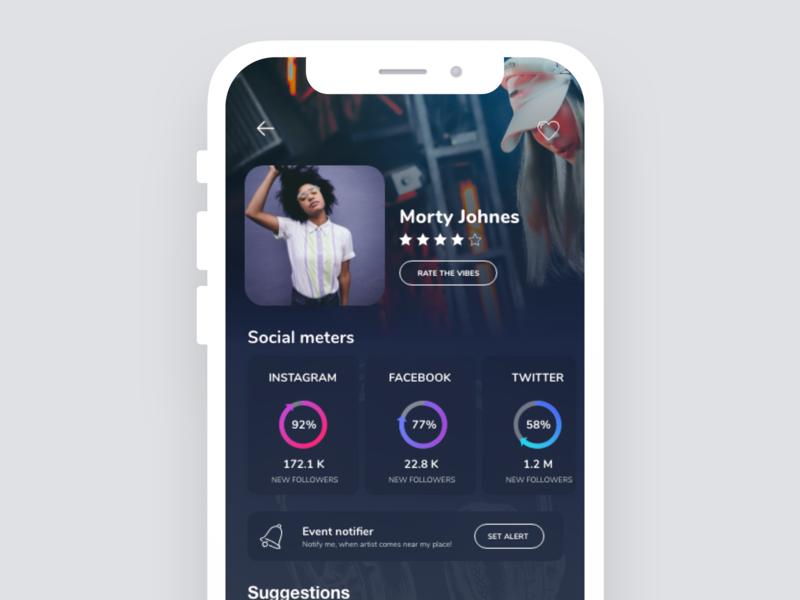 Social Stats Overview Profile App by Tim on Dribbble