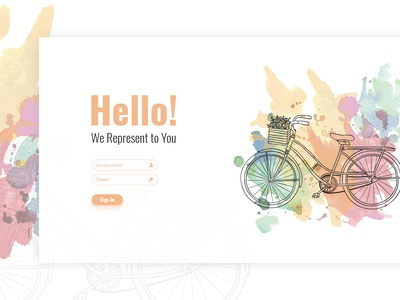 creative login page with illustration