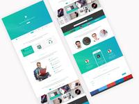 Onepage layout design