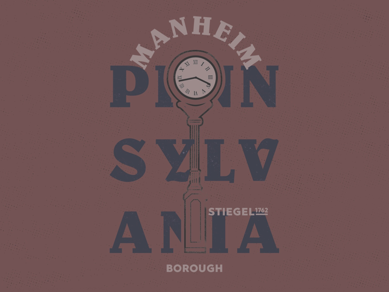 Manheim Pa Borough Mark badge design timeless history layout type design small town local branding graphic design typography