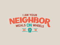2018 Meals On Wheel T-Shirt Design