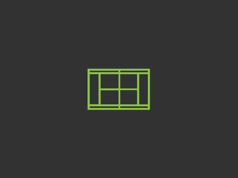 Tennis Court Icon 🎾 iconography freelance designer vector branding icon graphicdesign