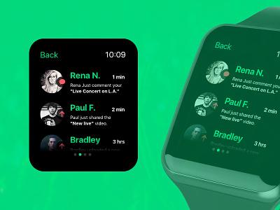 Upflic  (apple) watch watch friends upload notification ui wearable apple watch