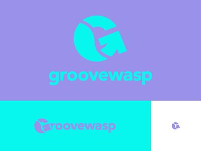 #Typehue Brandom Week 2: GrooveWasp Brand Identity & Logo logotype wordmark purple wasp groove identity design brand identity brand branding logo