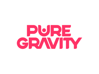 Pure Gravity Logo logomark typography calisthenics fitness pink design identity design brand identity brand agency branding brand logotype logo