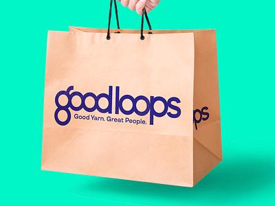 Good Loops Shopping Bag collateral shopping bag bag typography logomark logotype design identity design brand logo branding brand identity