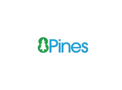 8 Pines Logo 8 pines pines pine tree tree typography green blue nature design logomark logotype identity design brand logo branding brand identity