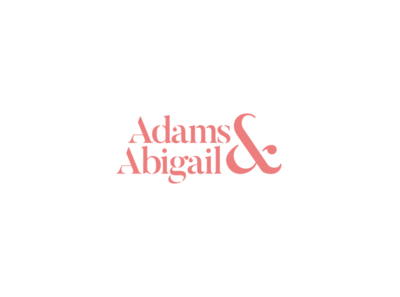 Adams & Abigail - Fashion Logo logo designer logo a day alliteration salmon pink salmon pink fashion brand logo design serif stencil design typography logomark logotype identity design brand logo branding brand identity fashion