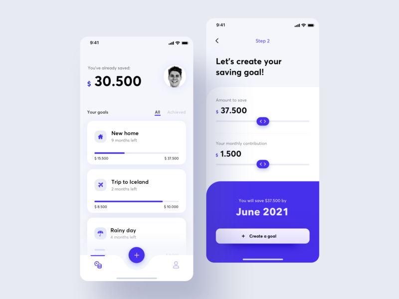 Saving Goals App