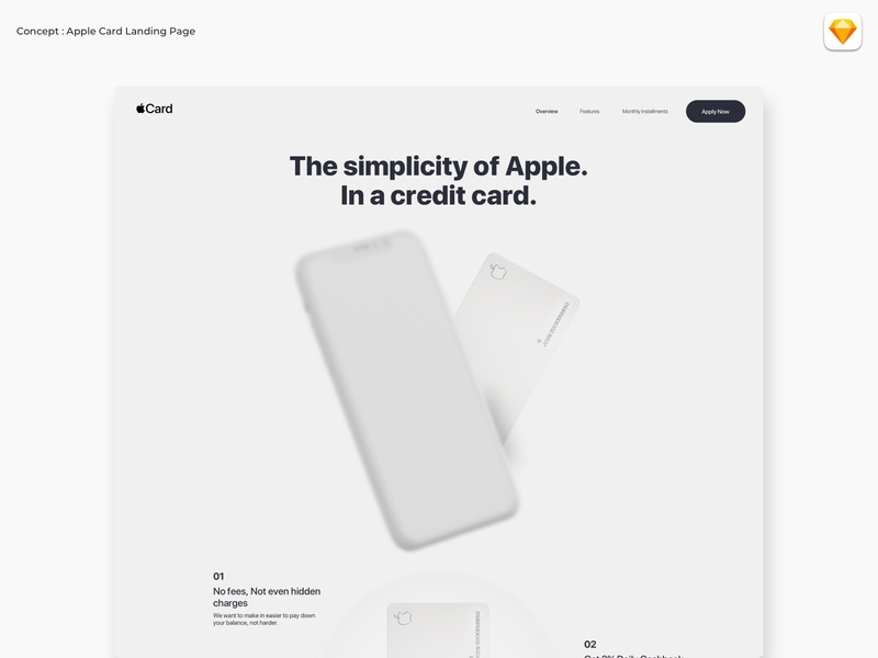 Apple credit card landing page mockup clay userinterface landingpage website uidesign white minimal creditcard apple watch applecard apple