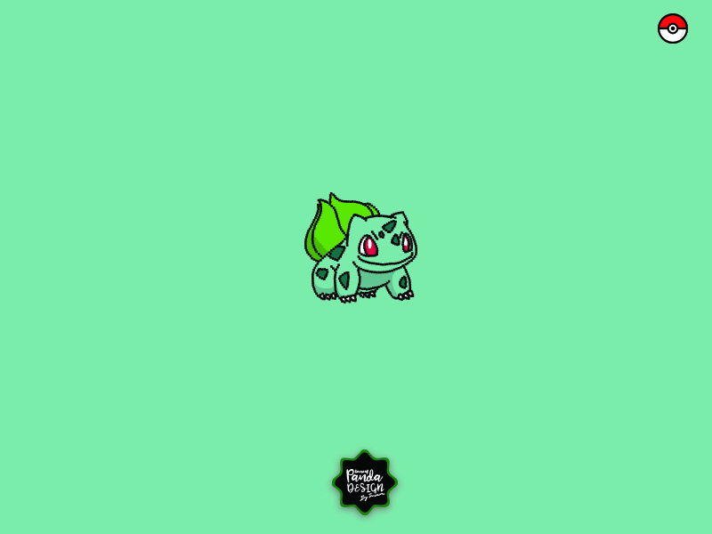 Bulbasaur,  Pokemon Series-3 squirtle print pokemon pixel pikachu painting bulbasaur illustration icon editorial digital brush