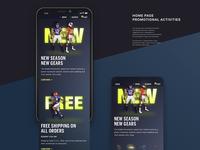 Sports gear store UI concept