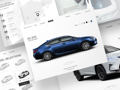 Lexus Test Drive app car lexus ui