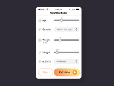 Day 004 | BMI Calculator calorie calculator app branding ui daily ui 004 daily ui