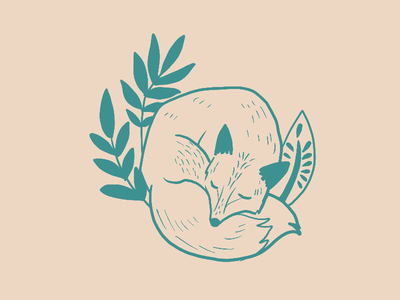 Sleepy Fox art fox illustration