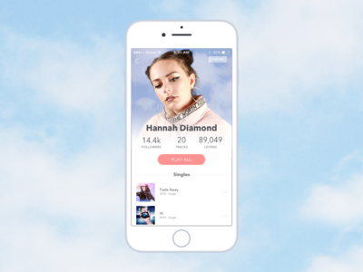 Day 006 | User Profile daily ui 006 app design music player daily ui