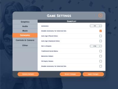Day 007 | Settings desktop uidesign settings dailyui007 ui video game daily ui