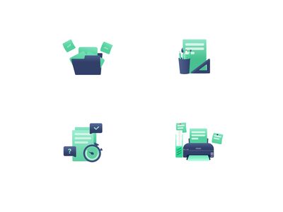 Wordverine - Icon for Features navy gree branding gradient clean play save folder print game logo illustration icon uiux ui