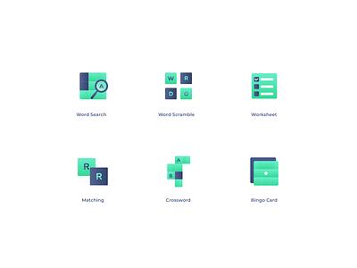 Wordverine - Word Game Icon web landing page e-commerce branding vector flatui logo ux icon gradient illustration uiux ui