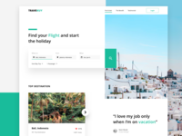Flight Booking Platform - Landing Page Exploration