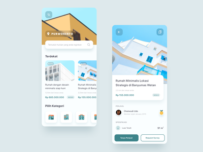 House Finder - Mobile App Exploration detail page feed finder property app clean mobile app e-commerce typography icon iphonex dribbble dailyui ux uiux ui